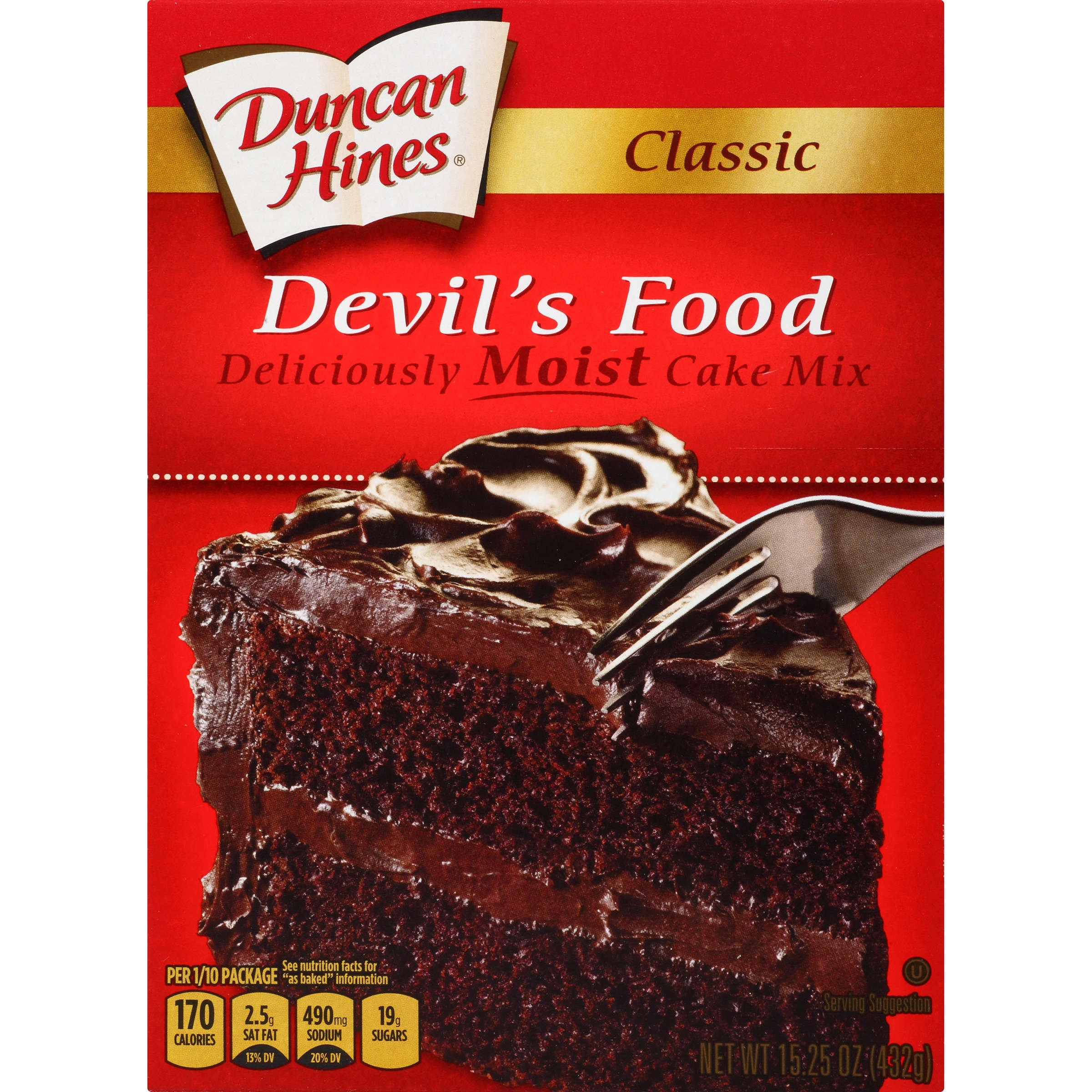 Duncan Hines Classic Cake Mix, Devil's Food, 15.25 Ounce
