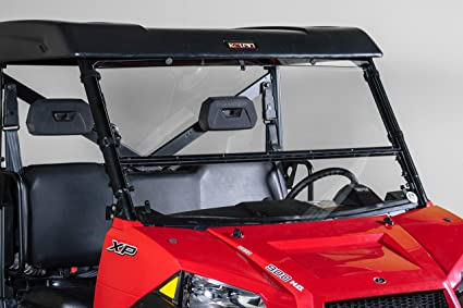 Full Size POLARIS RANGER 570/900/1000 and the Polaris Brutus Full-Tilt  Windshield-Best of both worlds  Half when you want and full when you need