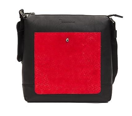 Image Unavailable. Image not available for. Color  Billionaire Italian  Couture Men s Shoulder Bag Black Red ecf2aa9c3a58e