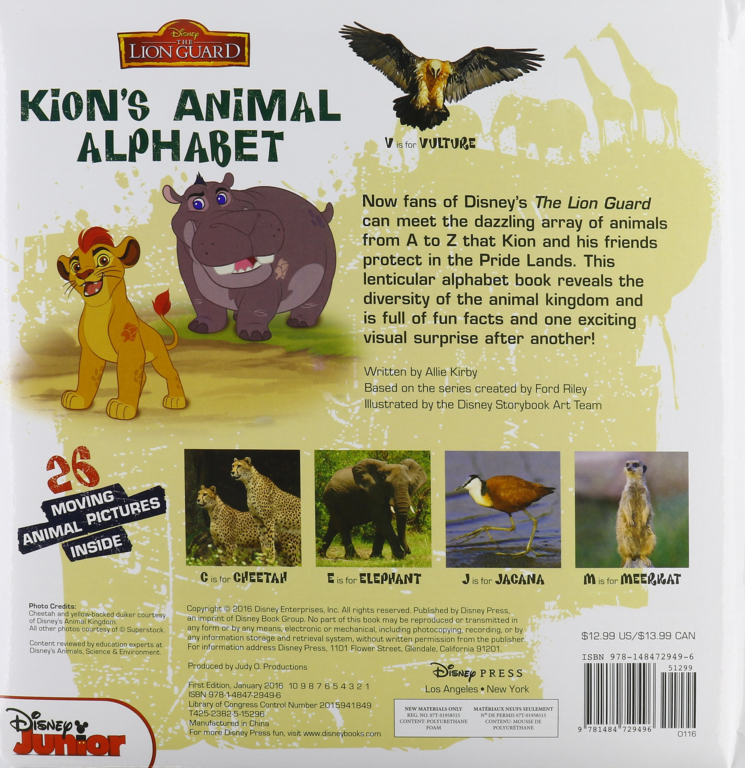 The Lion Guard Kion's Animal Alphabet