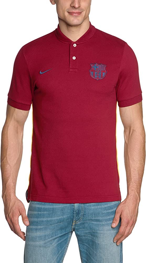 Nike F.C. Barcelona - Polo de manga corta, Rojo (Team red), XL ...