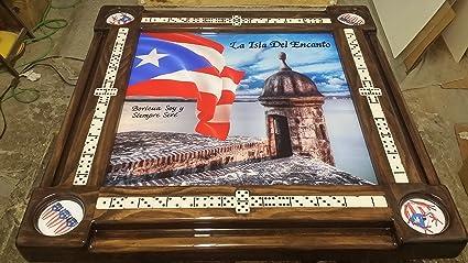 Amazon Com El Morro Puerto Rican Flag Domino Table