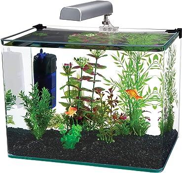 Penn Plax 10-Glass Fish Tank Curved