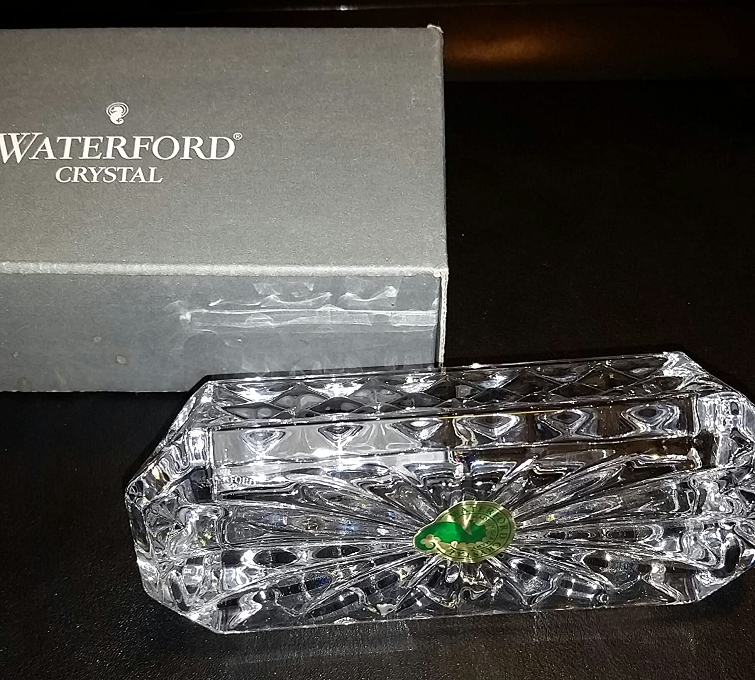 Beautiful crystal business card holders pattern business card amazon waterford crystal westover business card holder new colourmoves