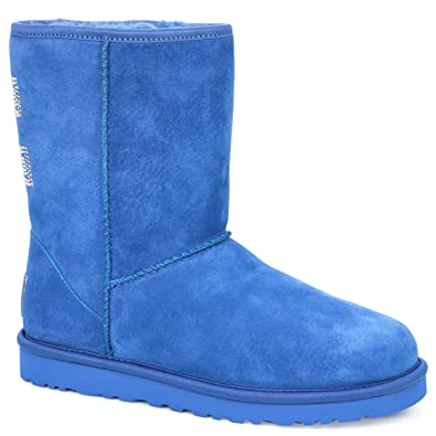 Amazon.com | UGG Australia Womens Classic Short Crystal Bow Boot Marine Blue Size 6 | Mid-Calf