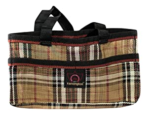 "Kensington Horse Grooming Tote Bag —Handy Upright Stow Away in Vibrant Plaid Designs — Very Durable with Lots of Storage Compartments — 12""L x 7""W x 7""D"