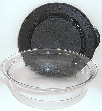 Tupperware schwarz Neu Clear Collection Servier Schüssel Set 6 größen