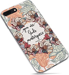 iPhone 7 Case Christian Quotes,iPhone 8 Case,Christian Bible Verses Inspirational Cover Soft TPU Silicone Protective Cases for iPhone 7/8 Plus (You are God's Masterpiece)