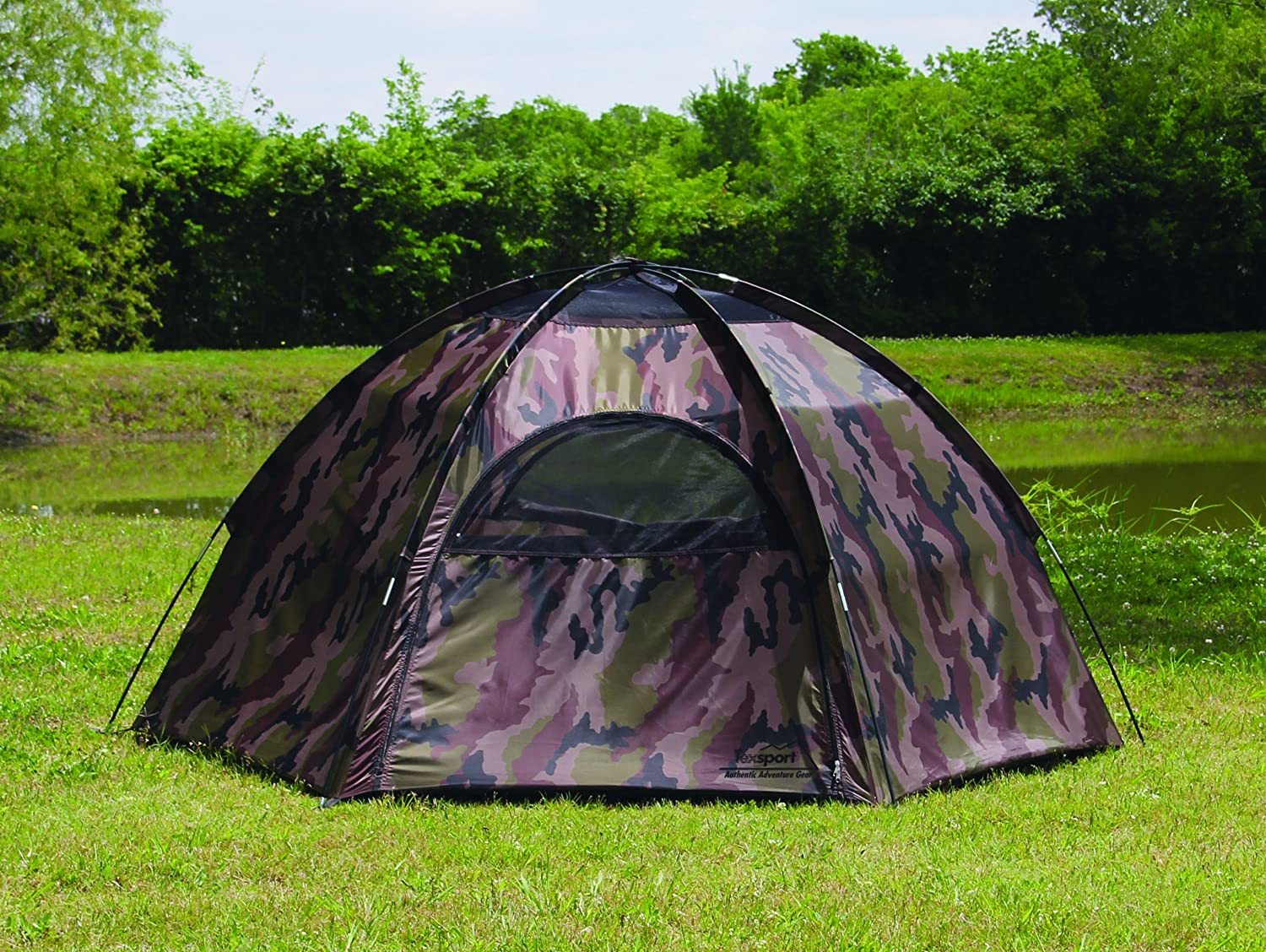 Amazon.com  Texsport 3 Person Hide-A-Way Camo Backpacking C&ing Tent with Carry Storage Bag  Camouflage Tents  Sports u0026 Outdoors & Amazon.com : Texsport 3 Person Hide-A-Way Camo Backpacking Camping ...