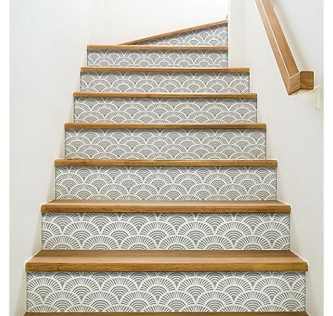 Playa Adhesivo para contremarches de escaleras, Vinilo, Azul, 100 x 0,1 x 19 cm: Amazon.es: Hogar