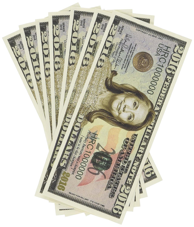 Set of 100 - Hillary Clinton 2016 Presidential Dollar Bill by American Art Classics
