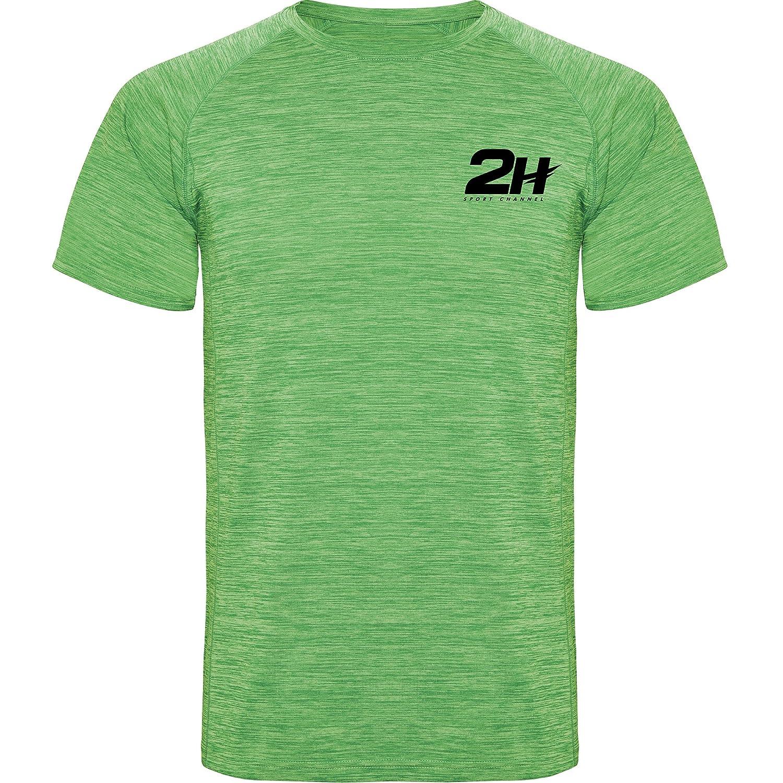 Camiseta técnica de pádel 2H Soldier Green, M: Amazon.es ...