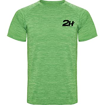 Camiseta técnica de pádel 2H Soldier Green, M: Amazon.es ...