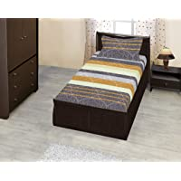 Bombay Dyeing Thyme 210TC Cotton 1 Single Size Bedsheet with 1 Pillow Cover (Ochre)