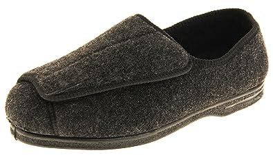 31f73af34efb Footwear Studio Coolers Mens Touch Fastening EEE Wide Fit Slippers ...