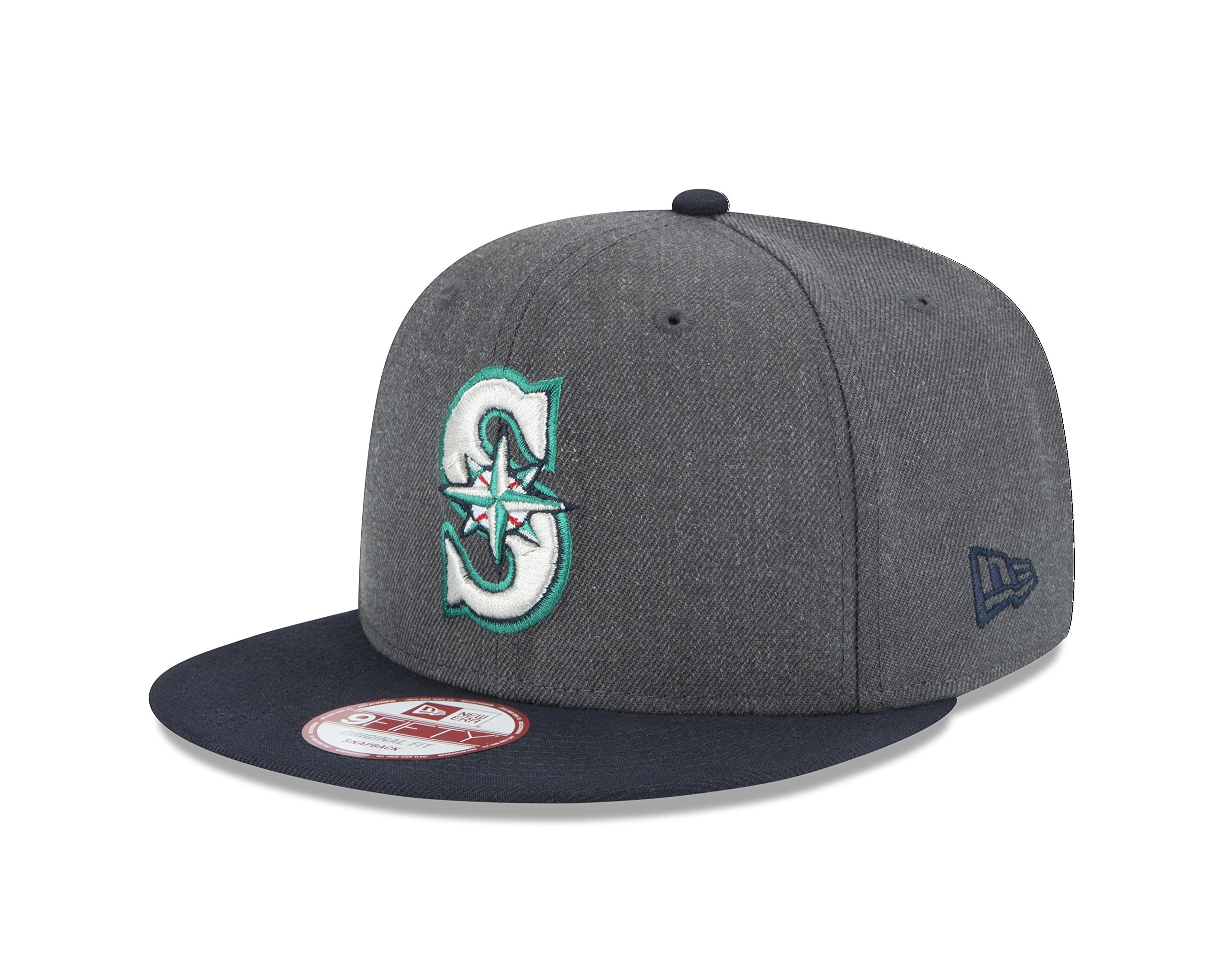 sports shoes f6b4e e9ec3 Galleon - New Era MLB Seattle Mariners Heather 9Fifty Snapback Cap, One Size,  Graphite