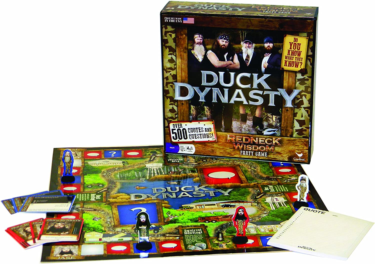 2013 Duck Dynasty Redneck Wisdom Board Game Quote Answer Pad Only