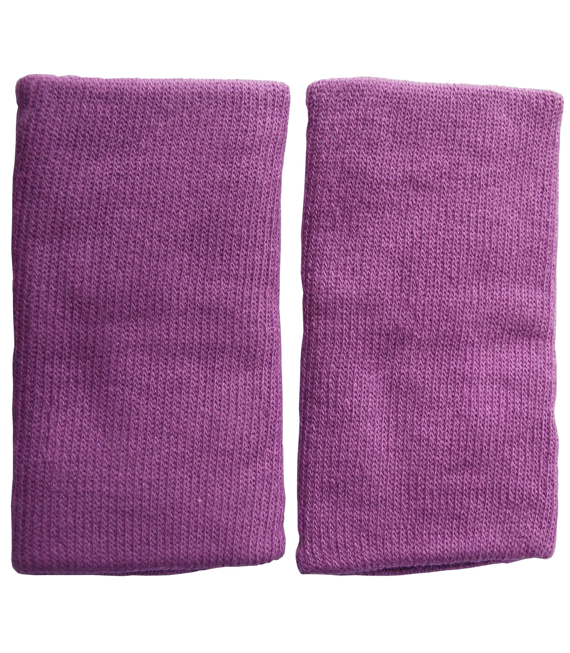 KneeBees Soft Protective Cotton Knee Pads/Knee Sleeves for Kids/Children Machine Washable Comfortable One Size Fits Most Perfect for Playing Running Exploring (Purple)
