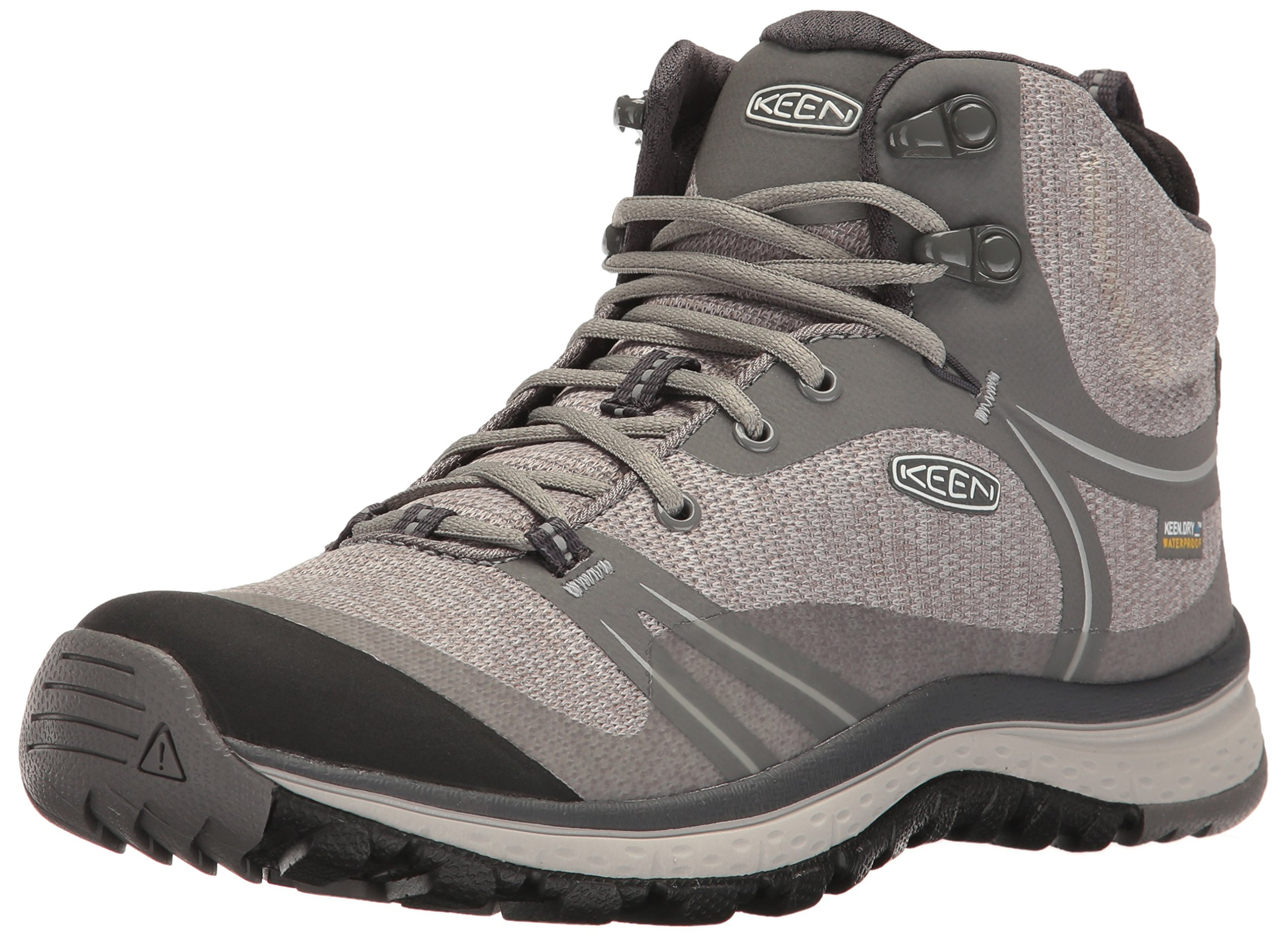 KEEN Women's Terradora Mid Waterproof Hiking Shoe, Gargoyle/Magnet, 9 M US