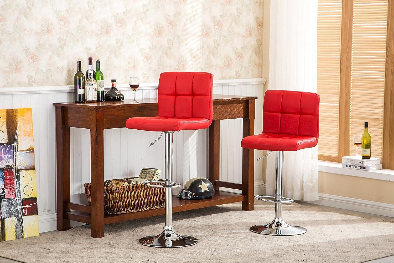 Roundhill Furniture Swivel Black Bonded Leather Adjustable