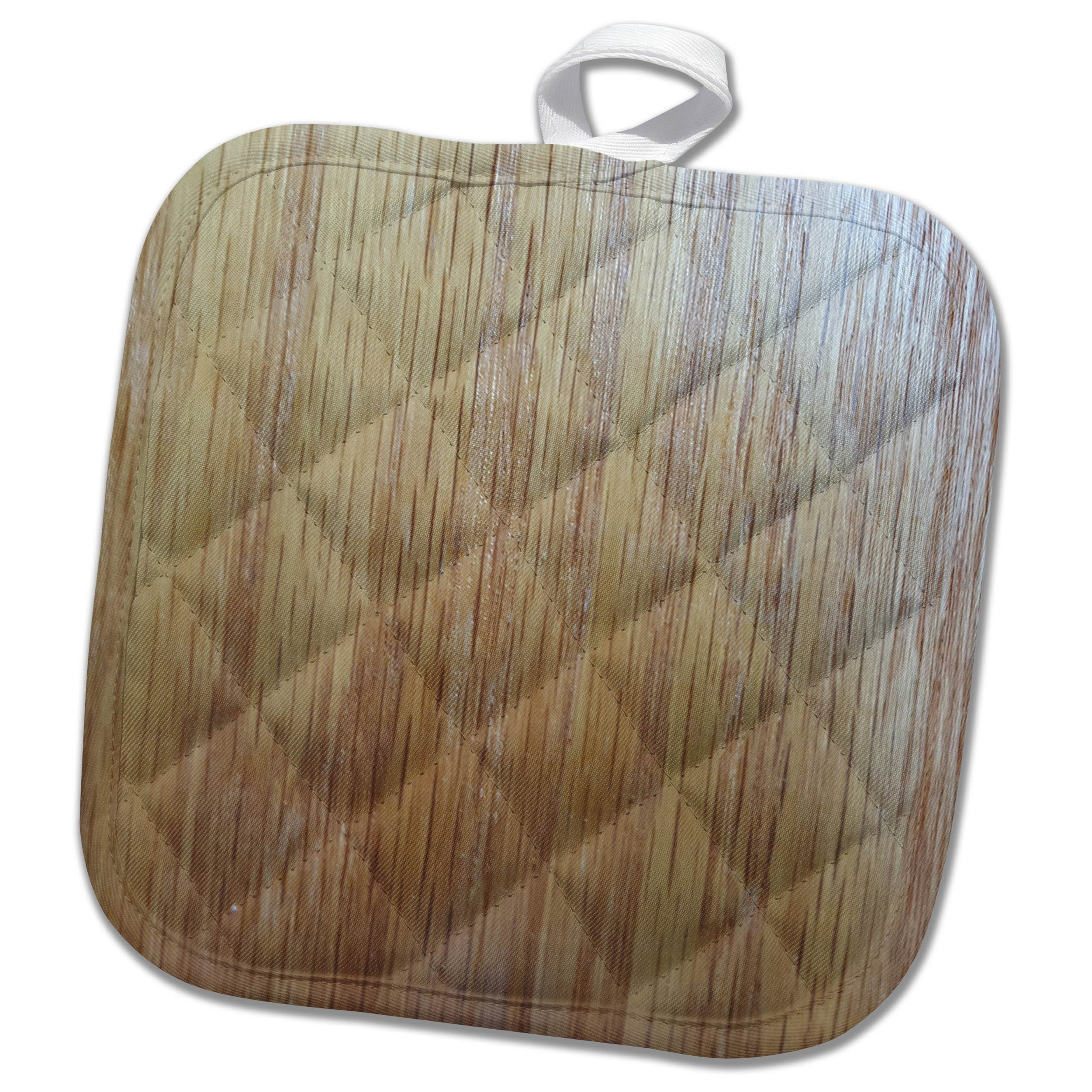 3dRose TDSwhite – Miscellaneous Photography - Pressed Wood Grain Photo - 8x8 Potholder (phl_285299_1)