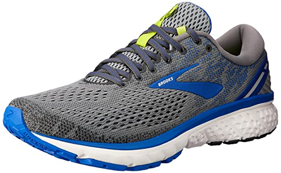 Brooks Men's Ghost 11 Grey/Blue/Silver 7 D US