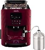 Krups Pisa Cafetera Automática 1450 W, Acero Inoxidable, Rojo/Negro