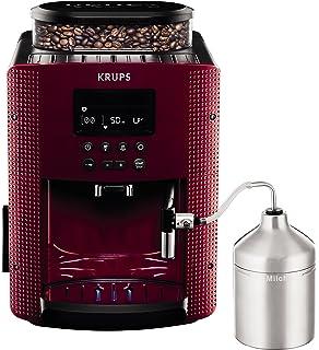 Krups Compact Cappucino EA816570 - Cafetera Superautomática 15 Bares, Pantalla LCD, 3 Niveles Intensidad