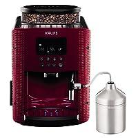 Krups EA816570 - Cafetera automática (15 bares de presión, pantalla LCD, accesorio cappuccino, 3 niveles de intensidad de café, cantidad ajustable, programa automático de limpieza, molinillo)