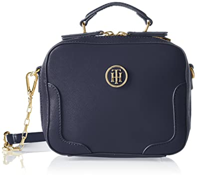 Turn Lock Crossover Argyle Studs, Womens Cross-Body Bag, Blau (Tommy Navy), 2,5x25x16 cm (B x H T) Tommy Hilfiger