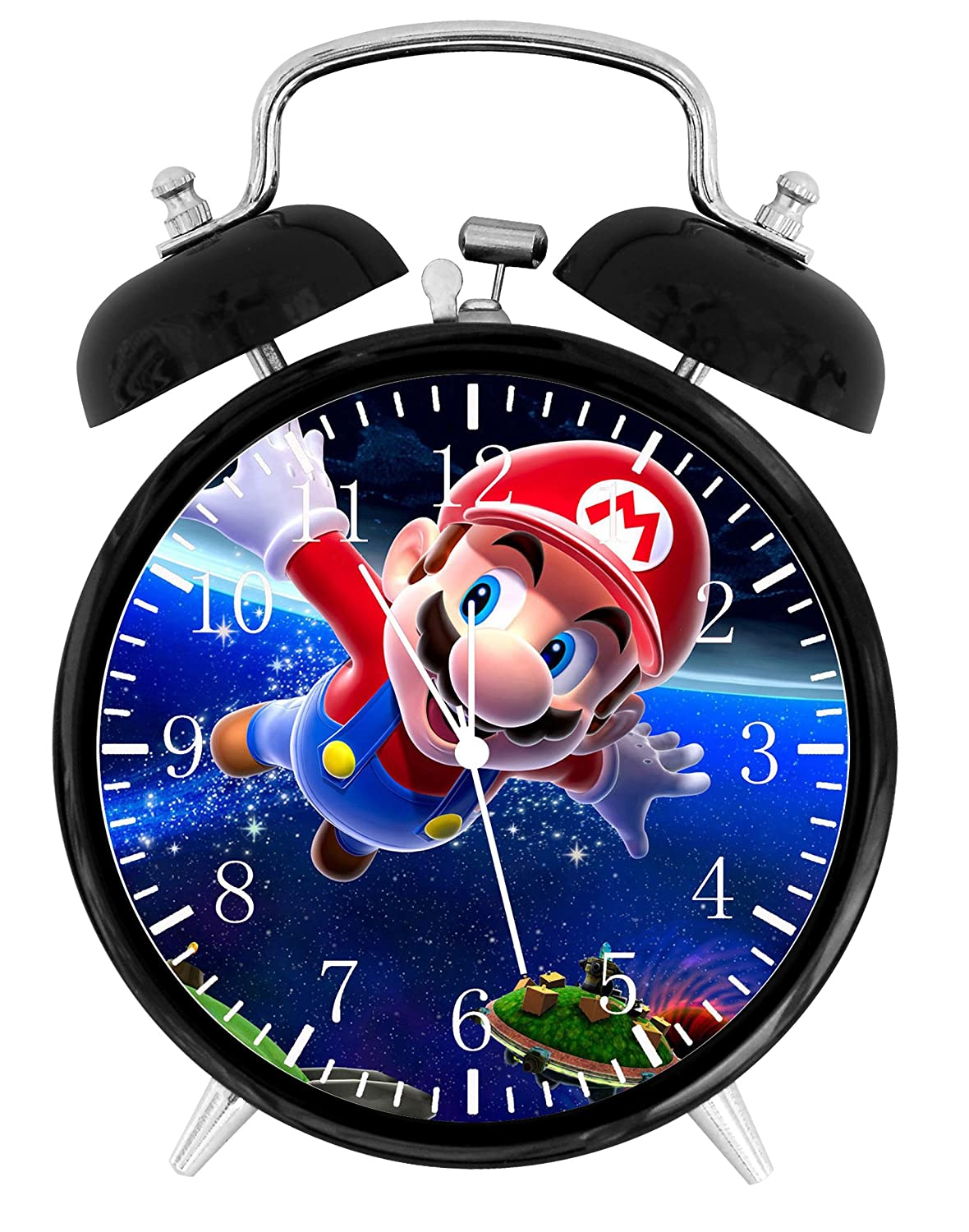 Super Mario Twin Bells Alarm Desk Clock 4 Home Office Decor W04 Nice for Gifts