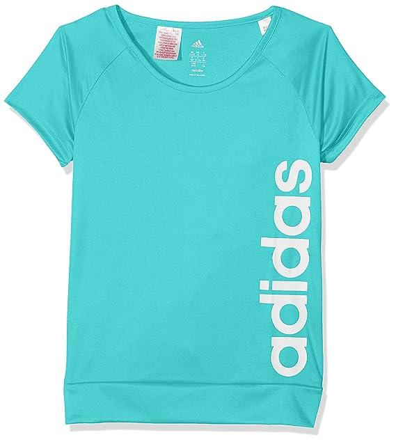 Rosa- ni/ñas adidas Yg TR Logo tee Camiseta Rosene//Blanco 116
