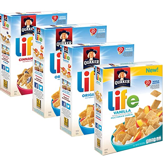 Quaker Life Breakfast Cereal Variety Pack, 52.2 Ounce
