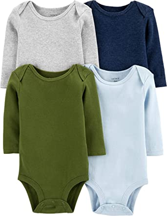Carter/'s 3m Infant boys 4 Pack Long Sleeve Bodysuits new  $26