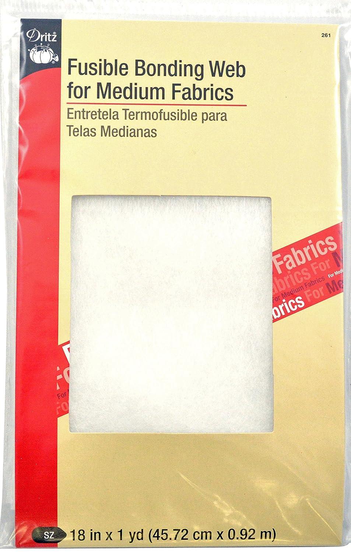Fusible Bonding Web For Medium Fabrics 18X 1 Yard-White Prym Consumer 261