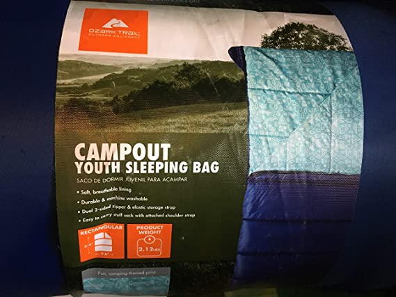 Amazon.com: OZARK-Trail Youth Sleeping Bag Camping Indoor Outoor Traveling - Cactus Design: Sports & Outdoors