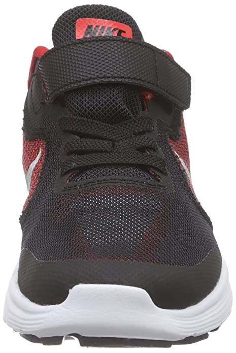 Nike Unisex-Kinder Revolution 3 Laufschuhe, Mehrfarbig (Unvrsty Rd/MTLLC SLVR-Blck-WHT 600), 29.5 EU