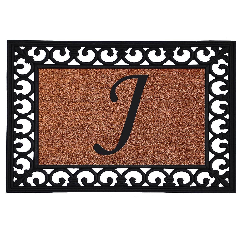 """19"""" x 25"""" Monogrammed Insert Doormat (LETTER J)"""