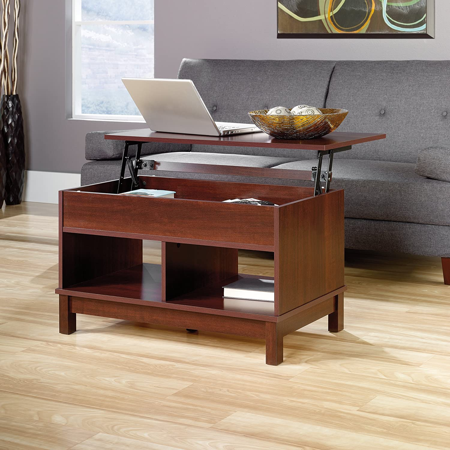 Sauder Kendall Square Lift Top Coffee Table Select Cherry Amazon