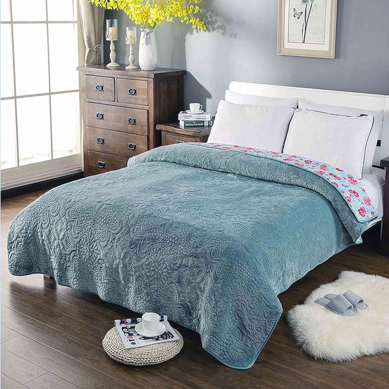 コットンソフト暖かいPlush Throw Blanketソファー/ソファ/ベッド、厚冬の毛布 70