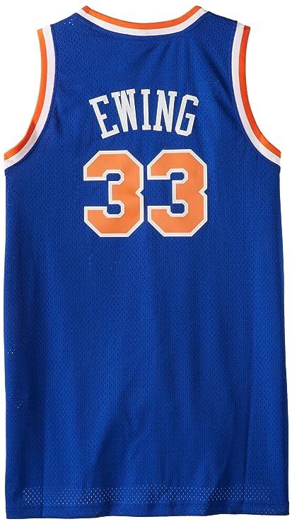 c0242d0c29e Amazon.com : NBA New York Knicks Patrick Ewing Swingman Jersey, Blue ...