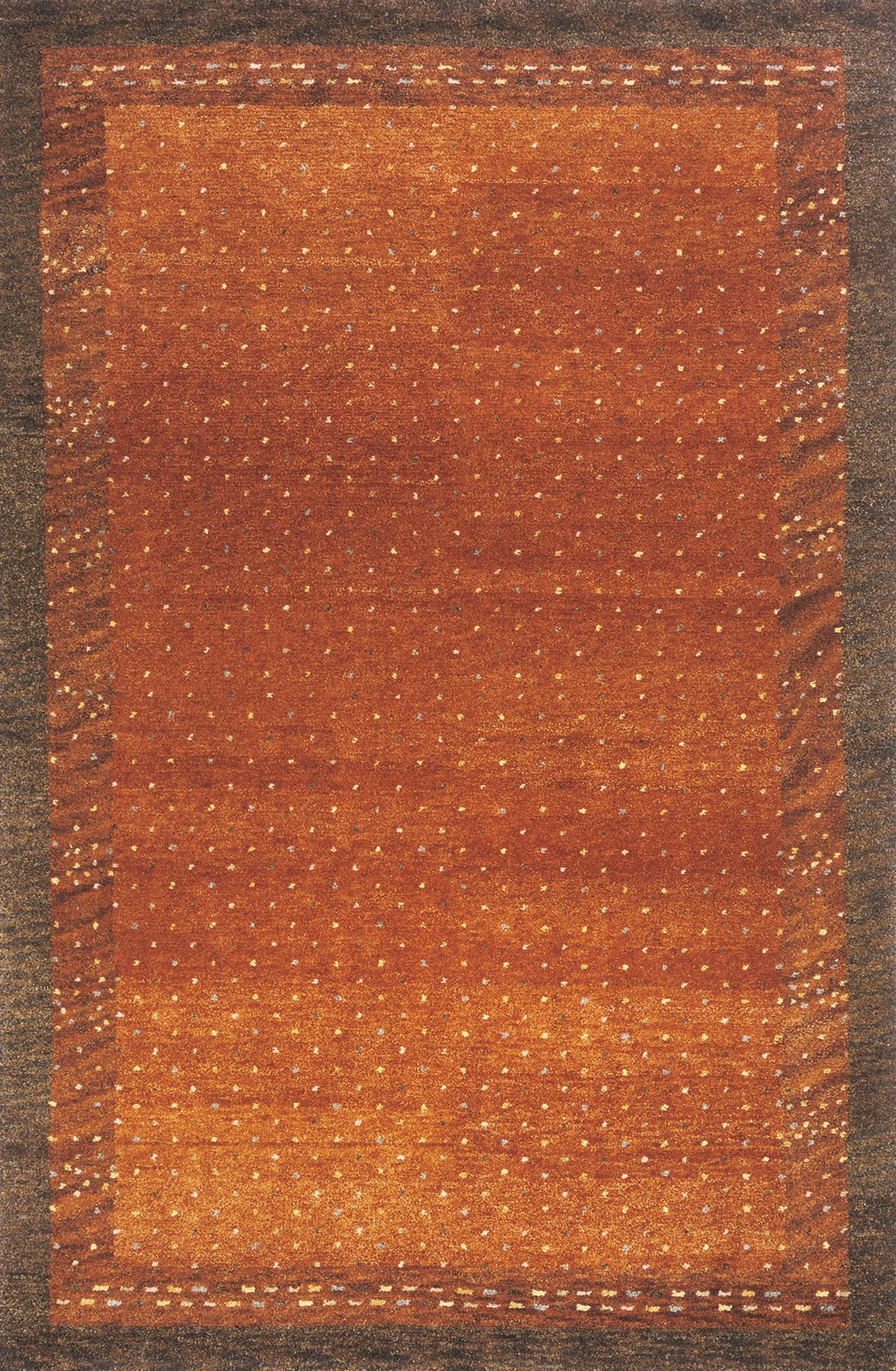 Momeni Rugs DEGABDG-01PAP5380 Desert Gabbeh Collection, 100% Wool Hand Knotted Contemporary Area Rug, 5'3'' x 8', Paprika