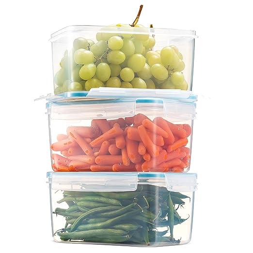 Komax biokips gran recipiente de almacenar comida 81oz. (Set de 3 ...