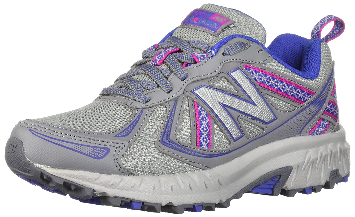 New Balance Women's WT410v5 Cushioning Trail Running Shoe B0751GSLQZ 10 D US|Steel