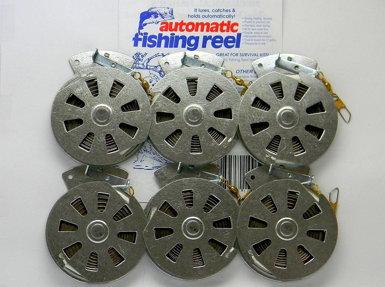 6 Mechanical Fisher s Yo Yo Fishing Reels -Package 1 2 Dozen- Yoyo Fish Trap – Flat Trigger Model