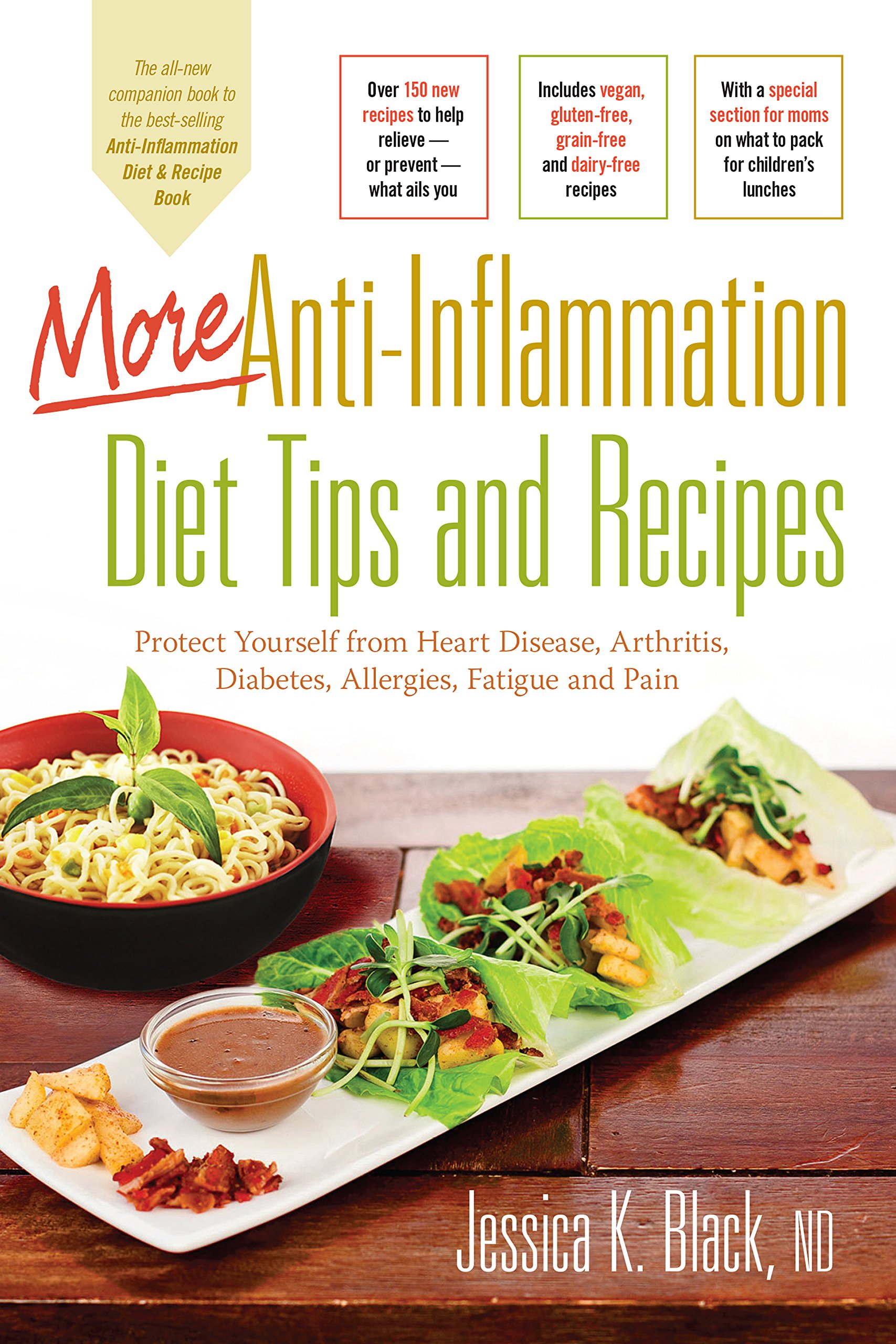 More Anti-Inflammation Diet Tips and Recipes: Protect Yourself from Heart  Disease, Arthritis, Diabetes, Allergies, Fatigue and Pain: Jessica K. Black  N.D.: ...