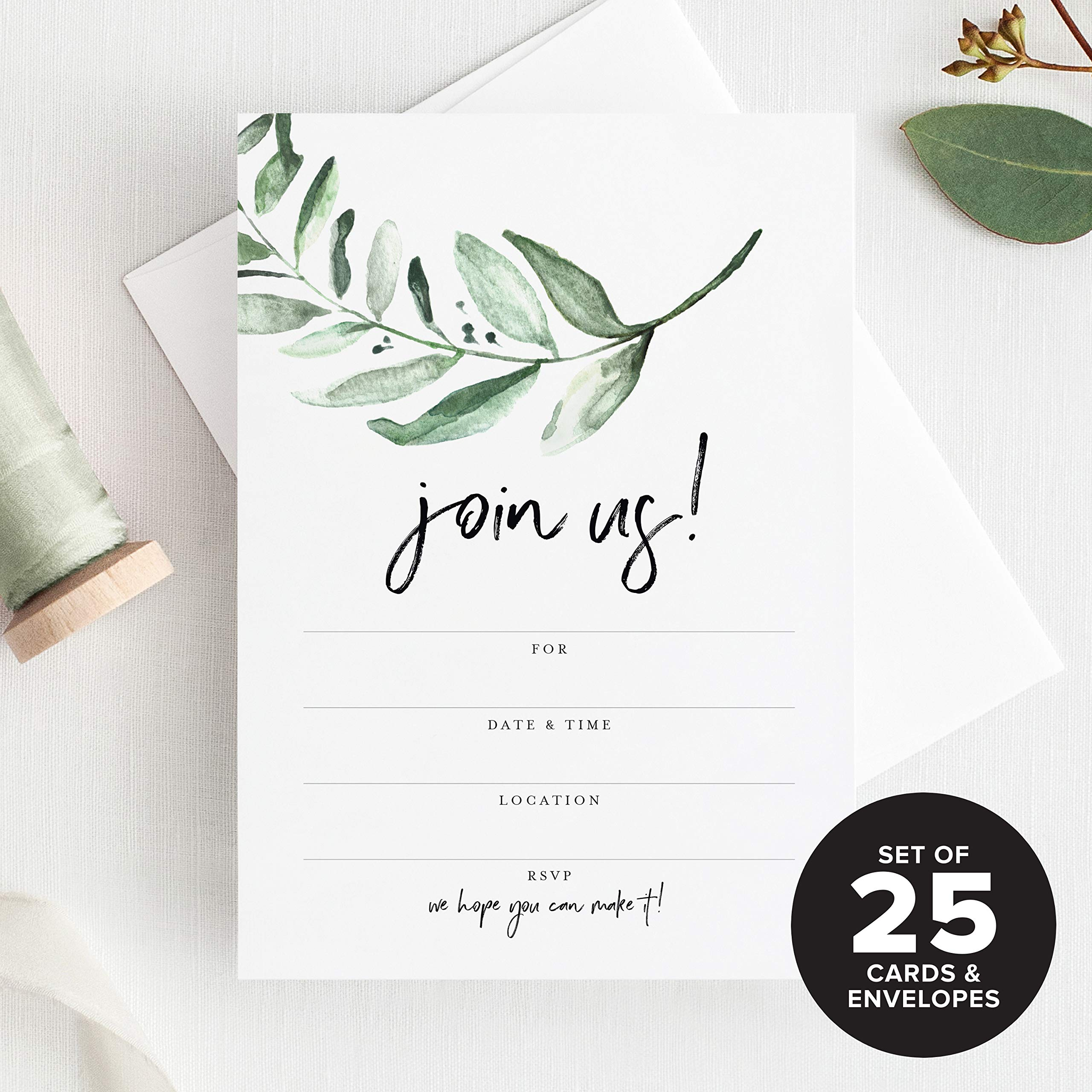 7525447f8771 Bliss Paper Boutique 25 Invitations with Envelopes for All Occasions