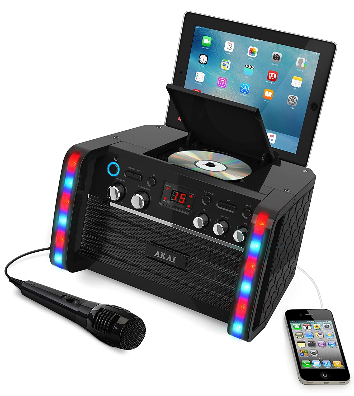 New portable akai cd g player karaoke machine system with - Mobile porta cd ...