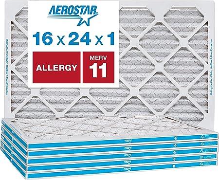 14X24X1 MERV 11 Pleated Air Filter 6-Pack