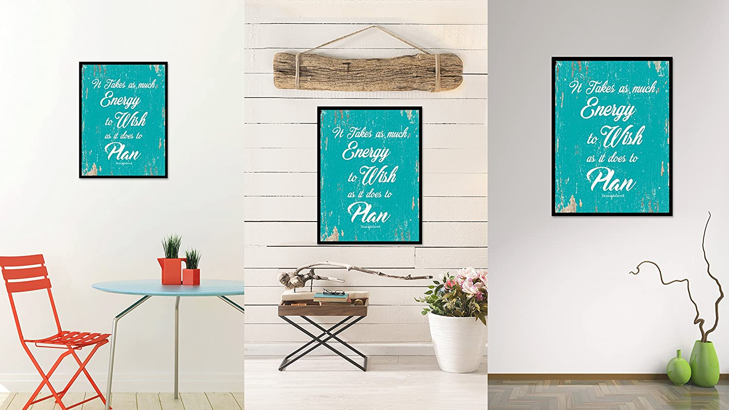 SpotColorArt It Takes As Much Energy to Wish As It Does to Plan Handcrafted Canvas Print